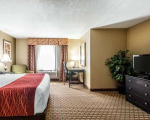 Телевизор и/или развлекательный центр в Comfort Inn & Suites Kansas City Downtown