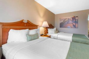A bed or beds in a room at The Inn at Gran View Ogdensburg, Ascend Hotel Collection