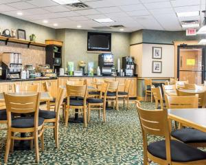 A restaurant or other place to eat at Quality Inn Geneseo