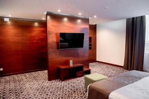 A television and/or entertainment center at Park Hotel