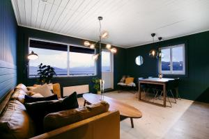 A seating area at Buvik Sea Lodge