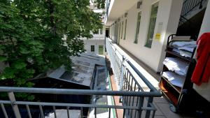 A balcony or terrace at The Hive Party Hostel Budapest