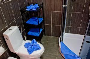 Koupelna v ubytování Royal Court Legerova
