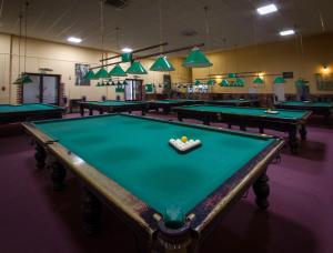 A pool table at Tourist Hotel