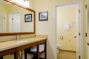 A bathroom at Comfort Inn Monterey Peninsula Airport