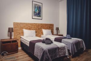 Łóżko lub łóżka w pokoju w obiekcie Apartamenty 21