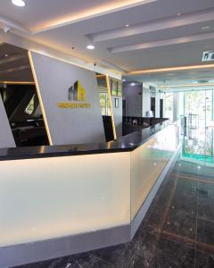 The lobby or reception area at Higher Hotel