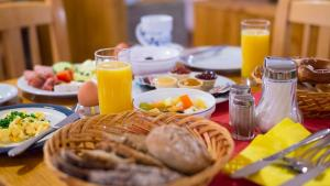 Breakfast options available to guests at Hotel am Haslinger Hof