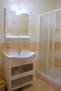 A bathroom at Penzion Letališče