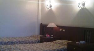 سرير أو أسرّة في غرفة في فندق أوركيدا سان جورج