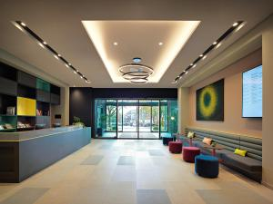 The lobby or reception area at Panoramahotel Waldenburg