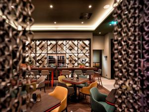 The lounge or bar area at Panoramahotel Waldenburg