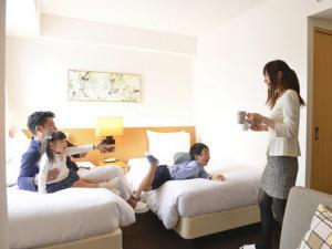 Keluarga yang menginap di Hotel Forza Nagasaki