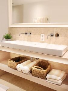 A bathroom at Ferienwohnungen Beargzit