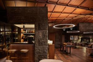 The lounge or bar area at The Lindis