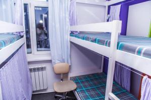 Двухъярусная кровать или двухъярусные кровати в номере Konkovo Hostel