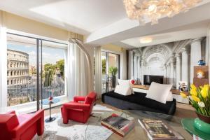 منطقة جلوس في Hotel Palazzo Manfredi – Small Luxury Hotels of the World