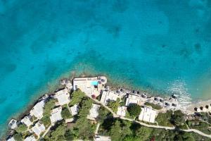 A bird's-eye view of Minos Beach Art Hotel