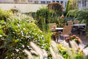 A garden outside Kronenhotel
