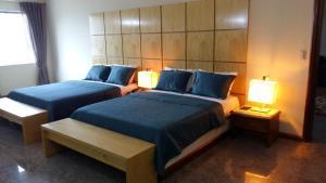 Cama ou camas em um quarto em Hotel Sagres