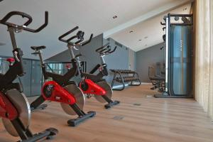 The fitness centre and/or fitness facilities at Van der Valk Hotel Leeuwarden