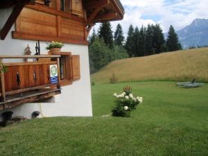 "A garden outside Lou Stalet au Pays du Mont Blanc ""Charmance"""