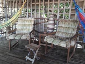 Uma área de estar em Ciamat Camp