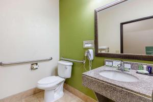 A bathroom at Sleep Inn & Suites Montgomery East I-85