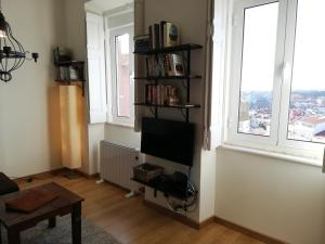 A television and/or entertainment center at The Hilltop Nest