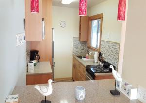 A bathroom at The Breakers Long Beach