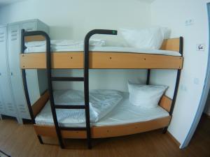 A bunk bed or bunk beds in a room at Monteurzimmer in Hamburg Mitte bei Hansezimmer