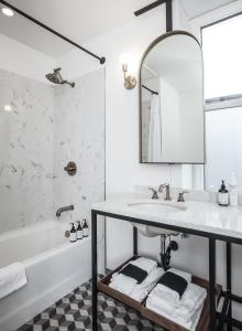 A bathroom at The Explorers Society Hotel