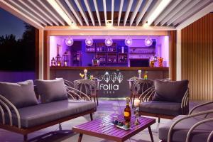 The lounge or bar area at Castello Dal Pozzo