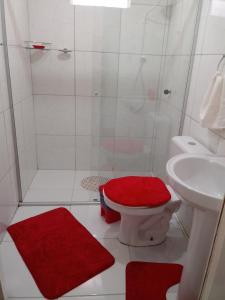 Um banheiro em Casa Rosada