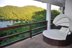 A balcony or terrace at Marigot Palms Luxury Caribbean Apartment Suites
