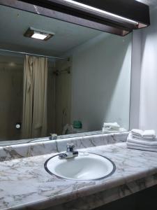 A bathroom at East Side Motel