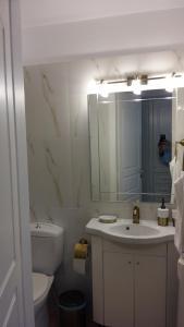 A bathroom at NN room near the Athens airport