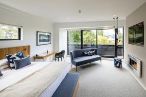 A seating area at Queenstown Park Boutique Hotel