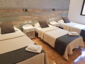 Кровать или кровати в номере Hotel Horizonte