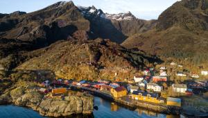 A bird's-eye view of Nusfjord Arctic Resort