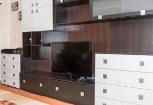 Телевизор и/или развлекательный центр в Трехкомнатные апартаменты на Гоголя