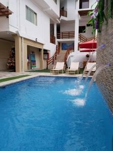 The swimming pool at or near Hostal España