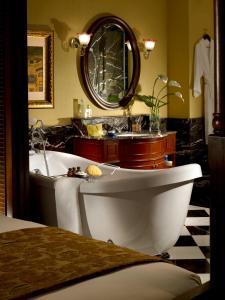 A bathroom at The Majestic Malacca Hotel