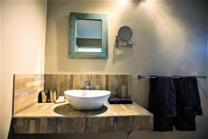 A bathroom at The Waterfront, Maun