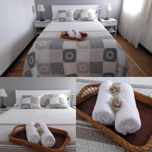 A bed or beds in a room at Casa Do Zoqueiro