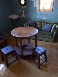 A seating area at Casa Sardão