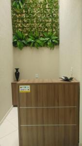 The lobby or reception area at Pousada Recanto de Fátima