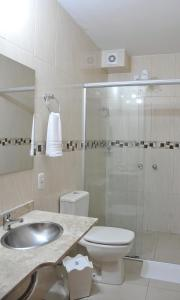 A bathroom at Hotel Masseilot
