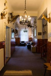 The lobby or reception area at Penzión Jesenský