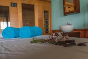 Cama o camas de una habitación en Cinque Colori Bed & Breakfast- Spa
